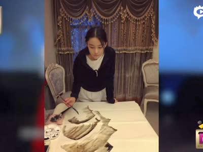 [视频]张馨予执画笔展现才女情怀 网友称赞