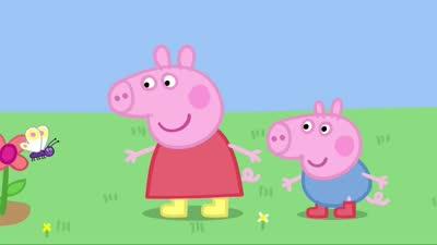 粉红猪小妹17 青蛙、小虫和蝴蝶
