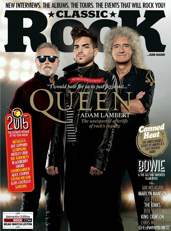 皇后乐队联手AdamLambert2015英国跨年演唱会