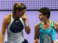 WTA年终总决赛女双半决赛 穆古拉扎/纳瓦罗VS赫拉瓦科娃/赫拉德卡 20151031