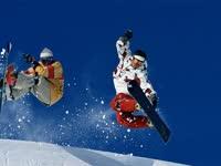 阿尔卑斯山上的雪板 奥运会银牌得主点燃观众热情