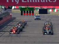 F1日本站正赛发车 塞恩斯撞墙维特尔报告失去动力