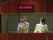 Daft Punk + Stevie Wonder传奇合作 - Get Lucky + Le Freak (56届格莱美颁奖礼现场)