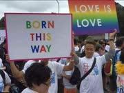 """内地2千""""同志""""参加台湾同性恋大游行"""