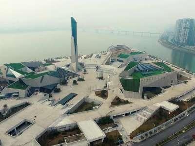 长沙滨江文化园正式开放 让我们从空中看看三馆一厅到底长啥样