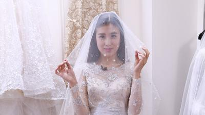 女星扮婚纱模特被忽视 安又琪挑选婚纱受惊吓
