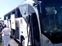埃及旅游大巴遇爆炸袭击现场:已16伤