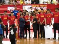 斯杯-2017斯坦科维奇杯颁奖典礼 中国男篮获季军