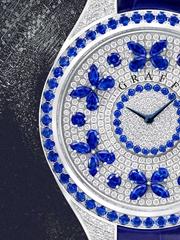 蹭蹭亮的钻石腕表