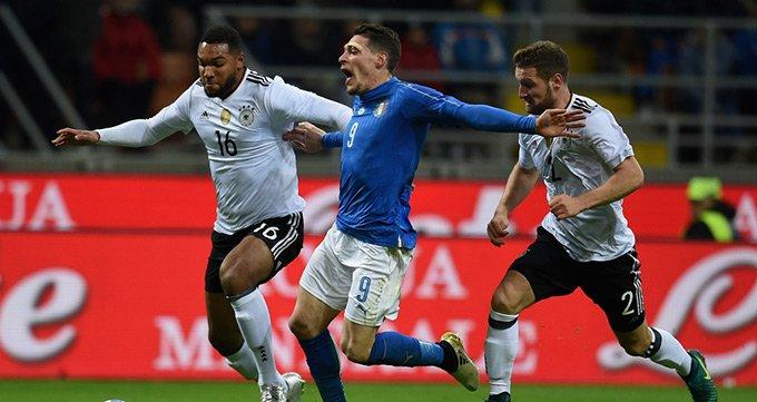 热身赛-意大利0-0德国-贝洛蒂中柱!老帅难复仇