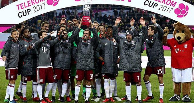 电信杯-拜仁2-1美因茨夺冠-里贝里建功 马丁内斯制胜球