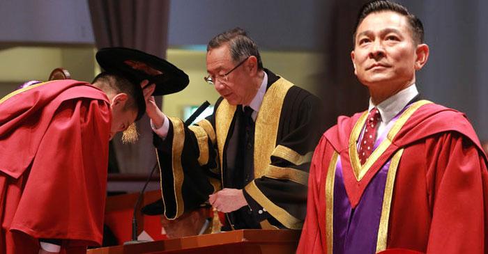 刘徳华获颁博士学位 低头受礼谦逊儒雅