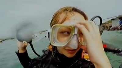 海南珍珠之旅(下) 成员海底潜水捞珍珠贝
