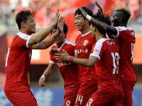 中超-延边富德2-1山东鲁能 尹比加兰攻入争议球