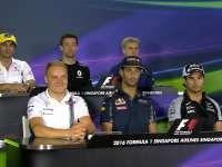 F1新加坡站车手发布会:愿新老板能让我们争争冠