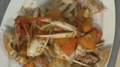 美味南瓜烧蟹 祛蟹寒味分明