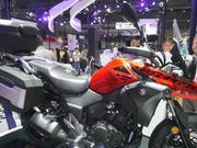 【骑士网车型实拍】铃木DL250 ABS 拉力车,2016摩博会静态实拍