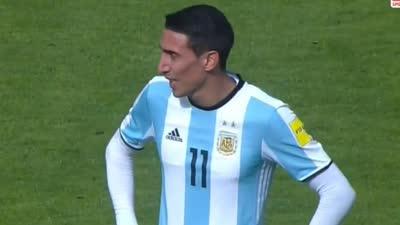 梅西不在迪马利亚又慌了!单刀踢中门将 阿根廷失利他背锅