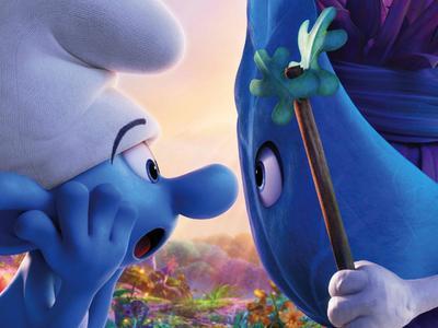 《蓝精灵:寻找神秘村》预告海报双发