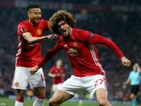 欧联-费莱尼头球拜利染红 曼联总分2-1晋级决赛