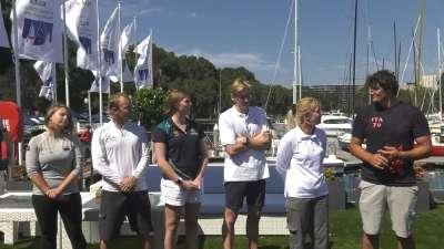 趣味帆船绞盘挑战赛 奥运冠军与水手跨界竞技