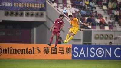 【进球GIF】阿费夫下半场闪破国足  国足0-1卡塔尔