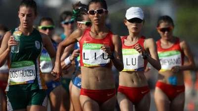 第22金!女子20公里竞走决赛  刘虹金牌吕秀芝摘铜