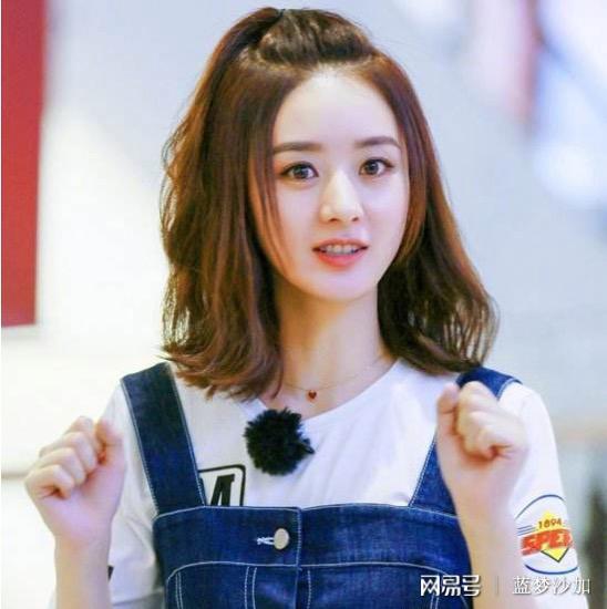 娱乐圈十大短卷发女明星,赵丽颖郑爽景甜上榜图片