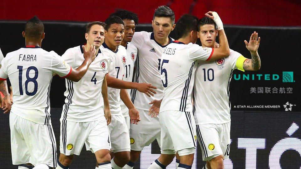 美洲杯-哥伦比亚1-0获季军-巴卡破门夸德拉多中柱