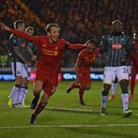 足总杯-利物浦1-0胜英乙队-卢卡斯破门奥里吉失点