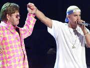 """""""恐同""""Eminem联手同志大腕Elton John献唱(2000年格莱美)"""