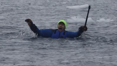 Henry跳入冰海 与金晨雪山论剑