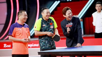 球桌狂拉八米变篮球场 王涛霸气挑战旋转乒乓球台