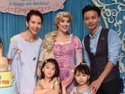 蔡少芬为女儿庆4岁生日 好友朱茵也带宝宝来祝贺