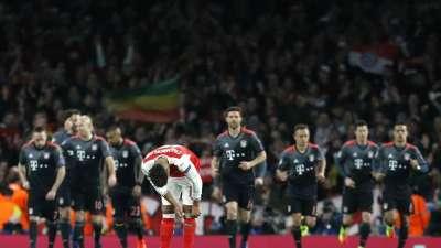 欧冠-沃尔科特破门比达尔双响 阿森纳总比分2-10遭血洗