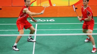 第21金 羽毛球男子双打张楠傅海峰夺冠