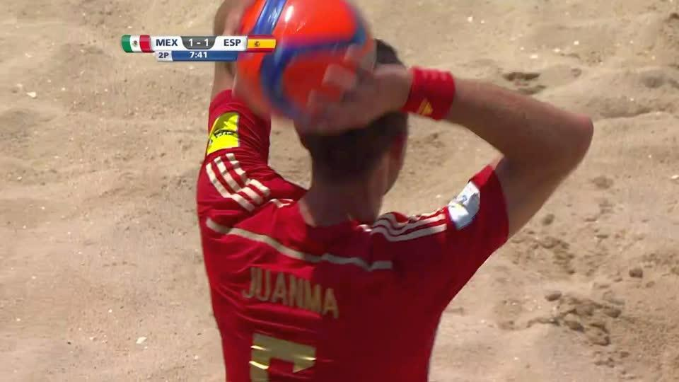 西班牙沙滩足球队VS伊朗沙滩足球队_沙滩足球