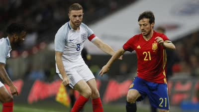 友谊赛-瓦尔迪破荒 西班牙6分钟两球2-2客平英格兰