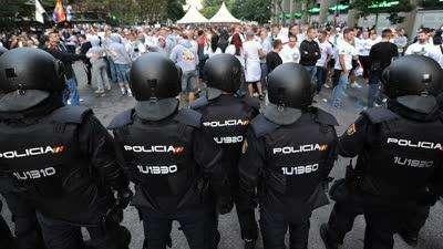 英国球迷又惹祸!莱斯特远征球迷马德里闹事多人被捕