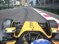 F1阿塞拜疆站一练 维斯塔潘失误帕默尔轮胎大抱死
