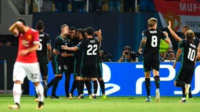 欧超杯-贝尔送助攻卢卡库处子球 皇马2-1击败曼联