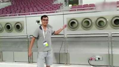 卡塔尔空调主场有多壕 记者带你领略凛冽的寒风