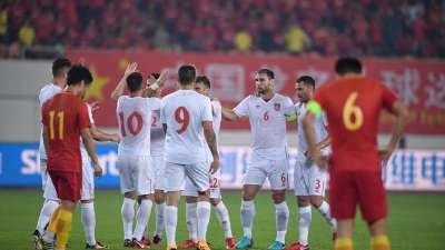 【进球GIF】米特洛维奇再入一球 国足0-2塞尔维亚