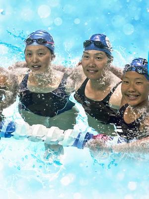 中国泳坛金花林莉王晓红在加州