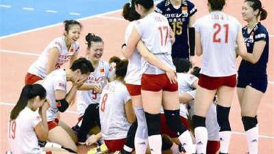 女排荣耀回顾 2015年女排世界杯中国队胜日本队夺冠