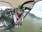 韩国女团GFRIEND队长Sowon蹦极初体验