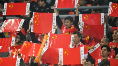 中国球迷赛后与冰岛球员