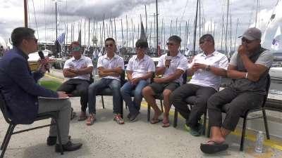 数风流船员 尽是墨镜少年 友宝号悉尼霍巴特归来接受乐视体育专访