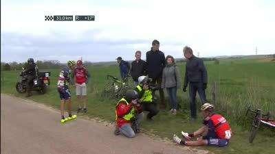 比利时乐透车手强力进攻 卫冕冠军加斯帕洛托遭遇摔车