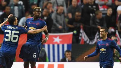 欧联-博格巴姆希塔良破门 曼联2-0队史首夺欧联杯